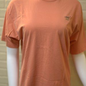 Henry Cotton Pastel Peach Pink Casual Shirt Size M